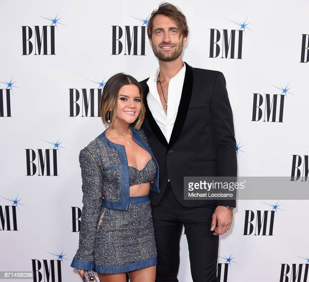 Maren Morris and Ryan Hurd attend the 65th Annual BMI Country awards on November 7 2017 in Nashville Tennessee