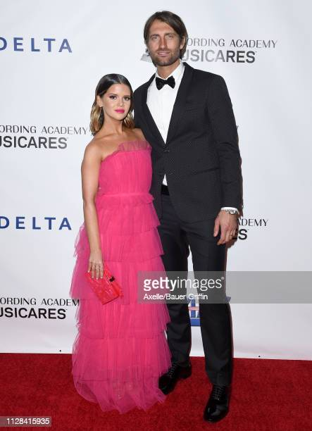Maren Morris and Ryan Hurd attends MusiCares Person of the Year honoring Dolly Parton at Los Angeles Convention Center on February 08 2019 in Los...
