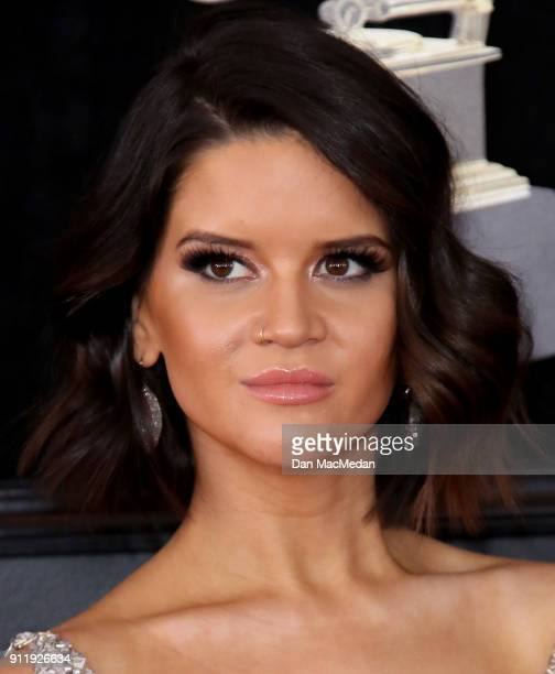 Maren Morris arrives at the 60th Annual GRAMMY Awards at Madison Square Garden on January 28 2018 in New York City