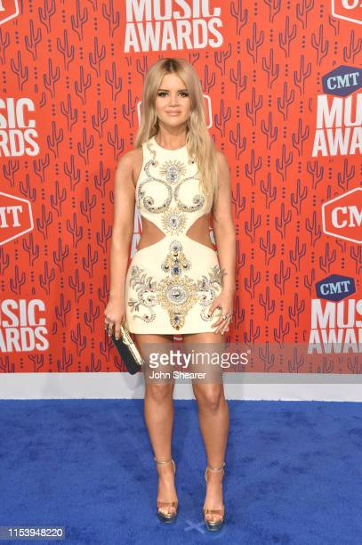 Maren Morris attends the 2019 CMT Music Awards at Bridgestone Arena on June 05 2019 in Nashville Tennessee