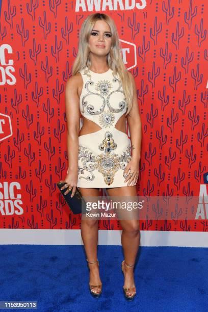 Maren Morris attends the 2019 CMT Music Awards at Bridgestone Arena on June 05, 2019 in Nashville, Tennessee.