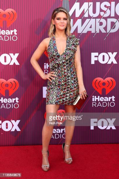 Maren Morris attends the 2019 iHeartRadio Music Awards which broadcasted live on FOX at Microsoft Theater on March 14 2019 in Los Angeles California