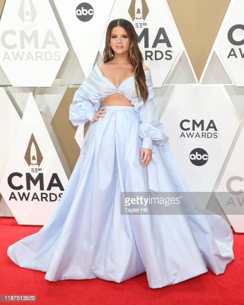 Maren Morris attends the 53nd annual CMA Awards at Bridgestone Arena on November 13 2019 in Nashville Tennessee