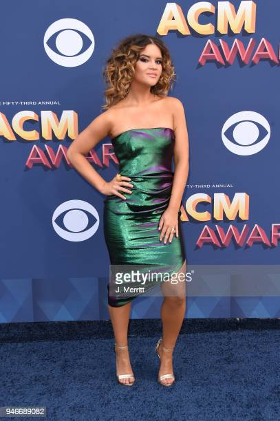 Maren Morris attends the 53rd Academy of Country Music Awards at the MGM Grand Garden Arena on April 15 2018 in Las Vegas Nevada
