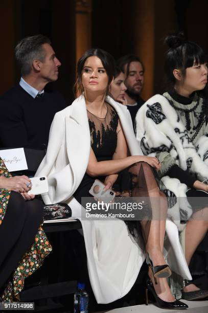 Maren Morris attends the Oscar De La Renta fashion show during New York Fashion Week The Shows at The Cunard Building on February 12 2018 in New York...