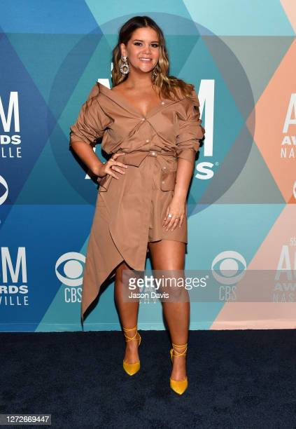 Maren Morris attends virtual radio row during the 55th Academy of Country Music Awards at Gaylord Opryland Resort & Convention Center on September...