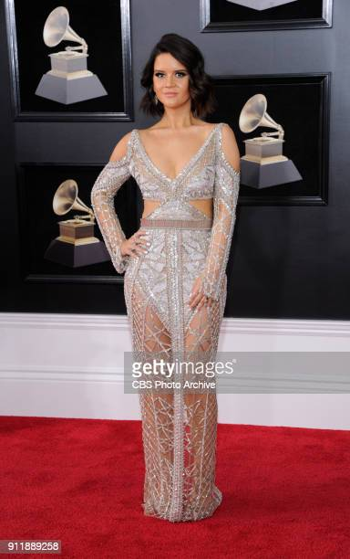 Maren Morris on the red carpet at THE 60TH ANNUAL GRAMMY AWARDS broadcast live on both coasts from New York City's Madison Square Garden on Sunday...
