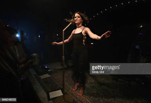 Maren Morris performs a private concert for SiriusXM at The McKittrick Hotel on September 12 2017 in New York City