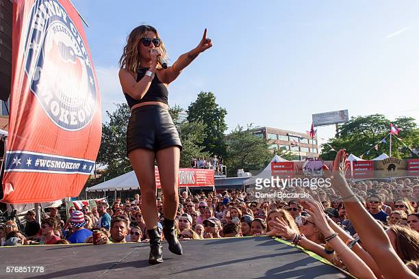 Maren Morris performs during the 4th Annual Windy City Smokeout BBQ and Country Music Festival on July 17 2016 in Chicago Illinois