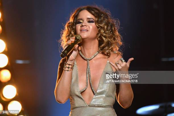 Maren Morris performs during the 53rd Academy of Country Music Awards at MGM Grand Garden Arena on April 15 2018 in Las Vegas Nevada