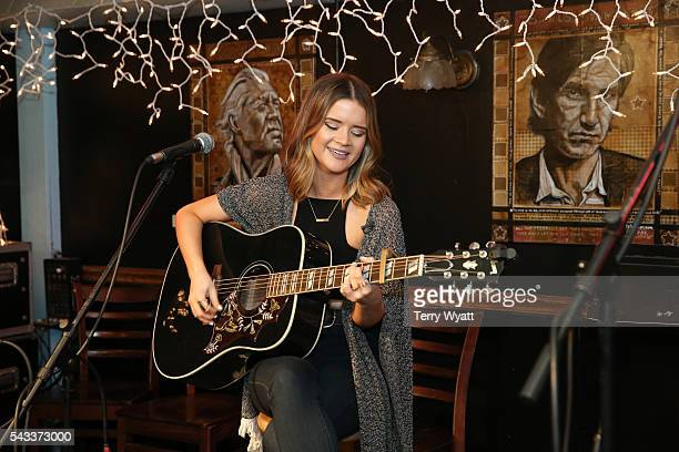 Maren Morris performs for campers during the ACM Lifting Lives Music Camp at the Bluebird Cafe on June 27 2016 in Nashville Tennessee