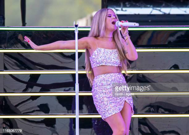 Maren Morris performs on day 1 of Faster Horses Festival 2019 at Michigan International Speedway on July 19, 2019 in Brooklyn, Michigan.