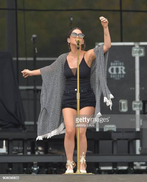 Maren Morris performs onstage at the 33rd Annual Kiss 999 Chili Cookoff at CB Smith Park on January 20 2018 in Pembroke Pines Florida