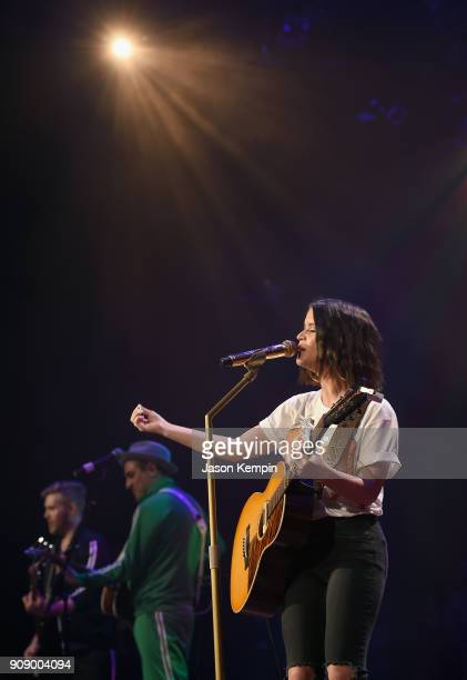 Maren Morris performs onstage during the Bobby Bones The Raging Idiots' Million Dollar Show for St Jude at the Ryman Auditorium on January 22 2018 in...