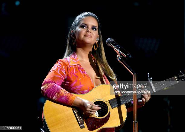 Maren Morris performs onstage during the55th Academy of Country Music Awards at Ryman Auditorium on August 26 2020 in Nashville Tennessee The ACM...