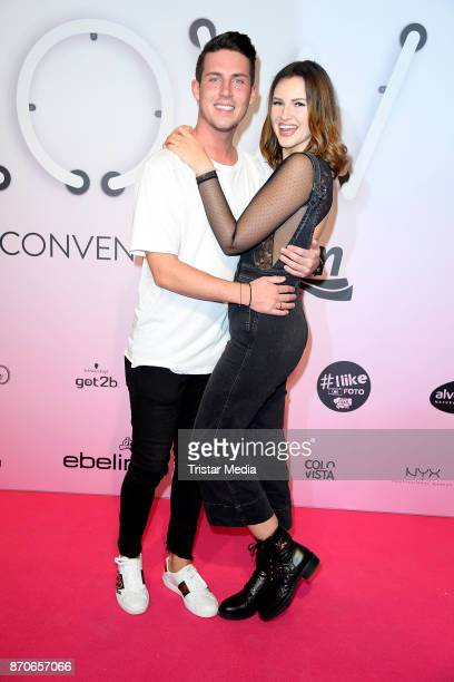 Maren Wolf and her husband Tobias Wolf attend the GLOW The Beauty Convention at Station on November 4 2017 in Berlin Germany
