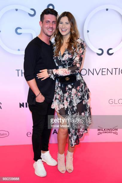 Maren Wolf and her husband Tobias Wolf during the 'GLOW The Beauty Convention' at Westfalenhalle on March 10 2018 in Dortmund Germany