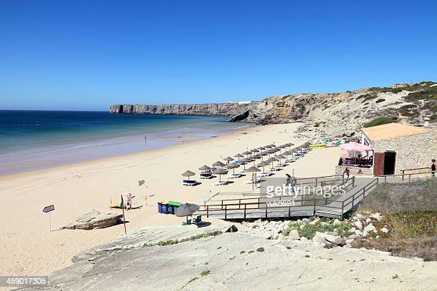 mareta beach - sagres stock pictures, royalty-free photos & images