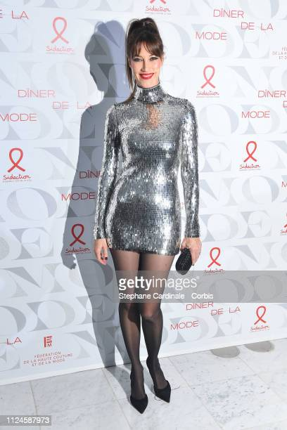 Mareva Galanter attends the 17th Diner De La Mode as part of Paris Fashion Week on January 24 2019 in Paris France