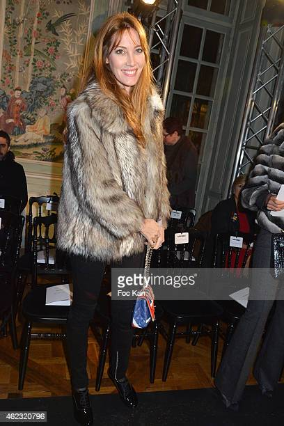 Mareva Galanter attends The Alexis Mabille show as part of Paris Fashion Week HauteCouture Spring/Summer 2015 on January 26 2015 in Paris France