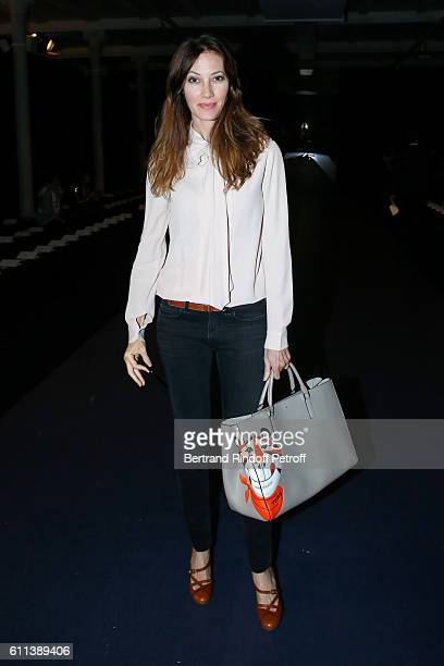Mareva Galanter attends the Alexis Mabille show as part of the Paris Fashion Week Womenswear Spring/Summer 2017 on September 29 2016 in Paris France