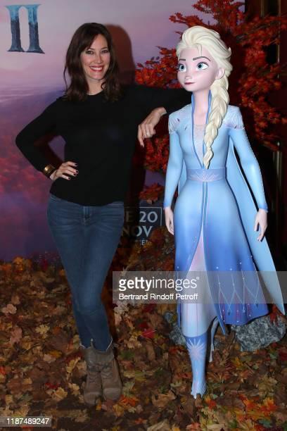 Mareva Galanter attends the Frozen 2 La Reine Des Neiges 2 Paris Gala Screening at Cinema Le Grand Rex on November 13 2019 in Paris France