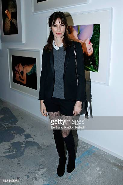 Mareva Galanter attends the 'Guy Bourdin Portraits' Exhibition Opening and Cocktail at Studio des Acacias on March 31 2016 in Paris France