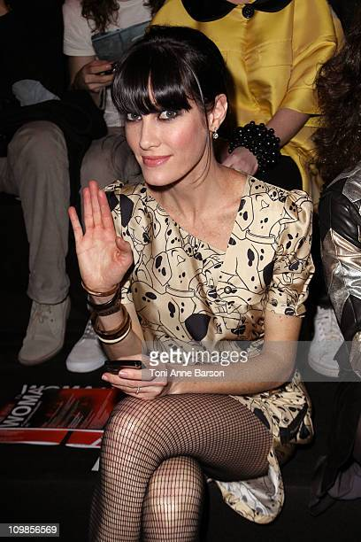 Mareva Galanter attends the JeanCharles de Castelbajac Ready to Wear Autumn/Winter 2011/2012 show during Paris Fashion Week at Pavillon Concorde on...