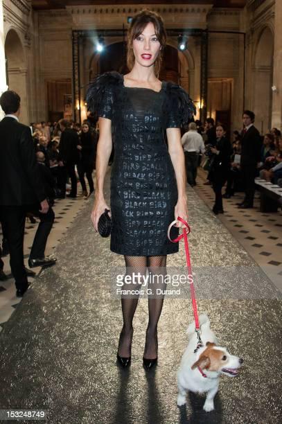 Mareva Galanter attends the JeanCharles de Castelbajac Spring / Summer 2013 show as part of Paris Fashion Week at L'Oratoire Du Louvre on October 2...