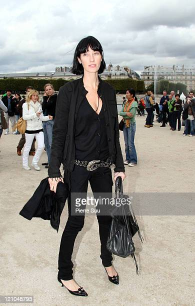 Mareva Galanter during Paris Fashion Week Spring / Summer 2007 Celine in Paris France