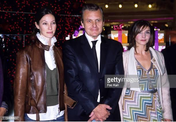 Mareva Galanter, Jean Charles de Castelbajac and Clotilde Courau