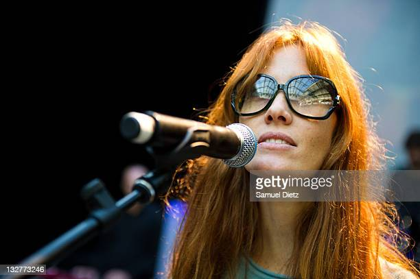 Mareva Galanter performs during the rehearsals of 'Dawn Of Innocence' by JeanCharles de Castelbajac at Le 104 on November 14 2011 in Paris France