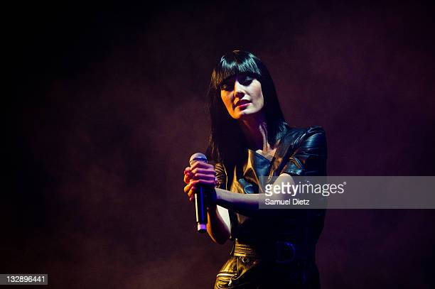 Mareva Galanter performs live during the Nouvelle Vague Presents 'Dawn Of Innocence' Directed by JeanCharles de Castelbajac Concert at Le 104 on...