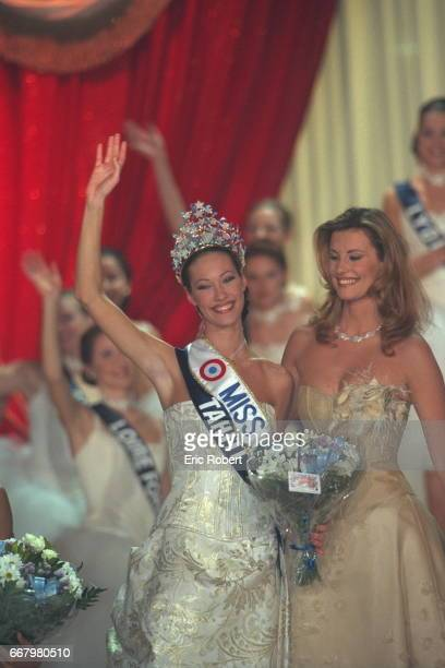 Mareva Galantier Miss Tahiti now Miss France 99 and Sophie Thalmann Miss France 1998