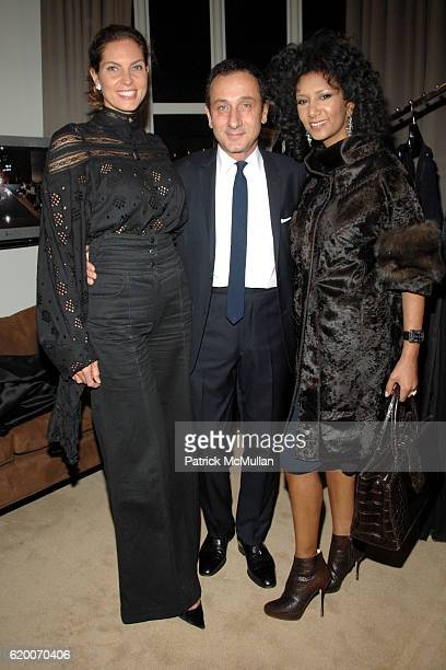 Mareva George, Gilles Mendel and Gelila Assefa Puck attend THE EXCLUSIVE RED CARPET COLLECTIONS Cocktail Party Hosted by GILLES MENDEL and KARA ROSS...