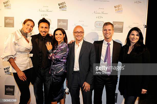 Mareva Georges Michael Faroutan Kathy Zahedi Gilles Amsallem David Marinon and Karen Martinon attend the Jewels of France Event with UbiFrance Jewels...