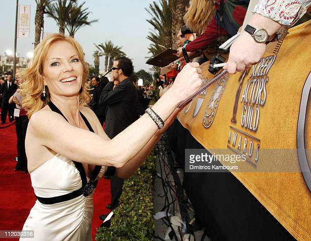 Marg Helgenberger 10618_dk0040.JPG during TNT Broadcasts 12th Annual Screen Actors Guild Awards - Red Carpet at Shrine Expo Hall in Los Angeles,...