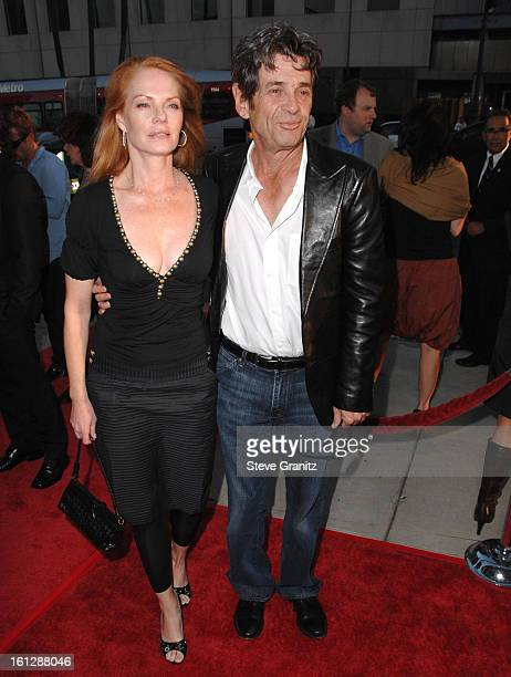Marg Helgenberger and Alan Rosenberg arrives at the Los Angeles Special Screening For 'Appaloosa' at The Academy Theatre on September 17 2008 in...