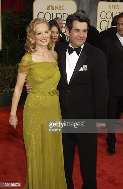 Marg Helgenberger and Alan Rosenberg during The 60th Annual Golden Globe Awards Arrivals at The Beverly Hilton Hotel in Beverly Hills California...