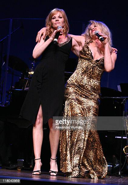Marg Helgenberger and Diana Harris during 2007 'What a Pair' Benefiting the John Wayne Cancer Institute Show at The Orpheum Theatre in Los Angeles...