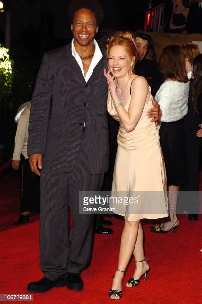Marg Helgenberger and Forest Whitaker during The 30th Annual People's Choice Awards Arrivals at Pasadena Civic Auditorium in Pasadena California...