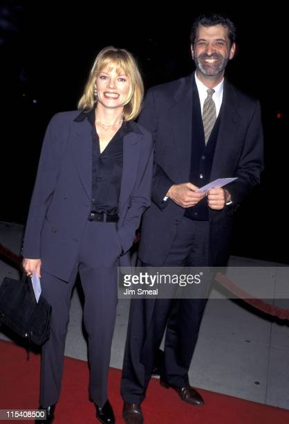 """Marg Helgenberger and guest during Premiere of """"Restoration"""" at Academy Theater in Beverly Hills, California, United States."""