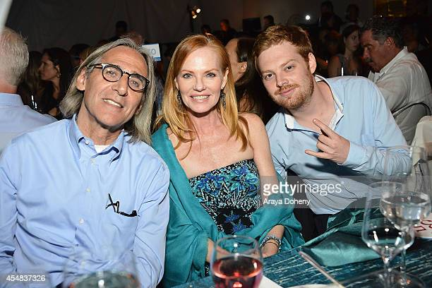 Marg Helgenberger and Howard Rosenberg attend the Project Angel Food's 25th Anniversary Angel Awards 2014 honoring Aileen Getty with the Inaugural...