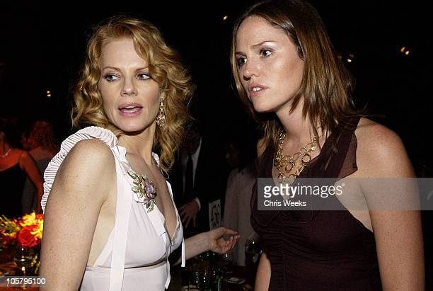 Marg Helgenberger and Jorja Fox during 55th Annual Primetime Emmy Awards - Governors Ball at The Shrine Auditorium in Los Angeles, California, United...