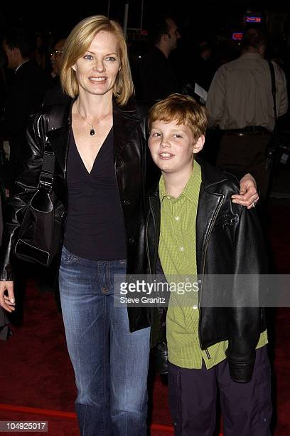 Marg Helgenberger and son Hugh Howard Rosenberg during Harry Potter and The Sorcerer's Stone Los Angeles Premiere at Mann Village Theatre in Westwood...