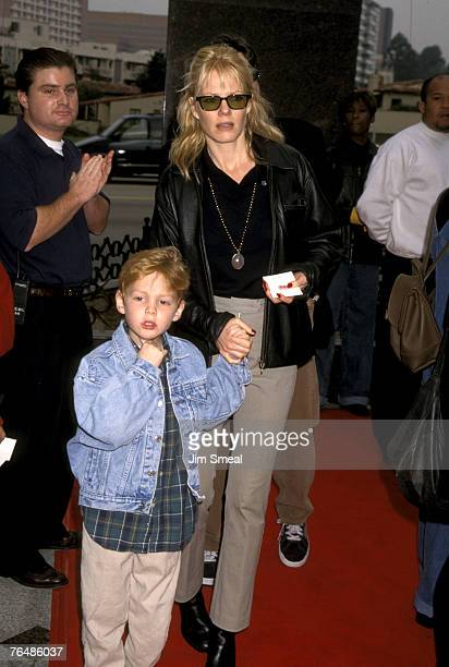 Marg Helgenberger and son Hugh Howard Rosenberg