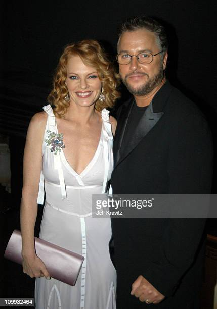Marg Helgenberger and William L Petersen during 55th Annual Primetime Emmy Awards Backstage and Audience at The Shrine Auditorium in Los Angeles...