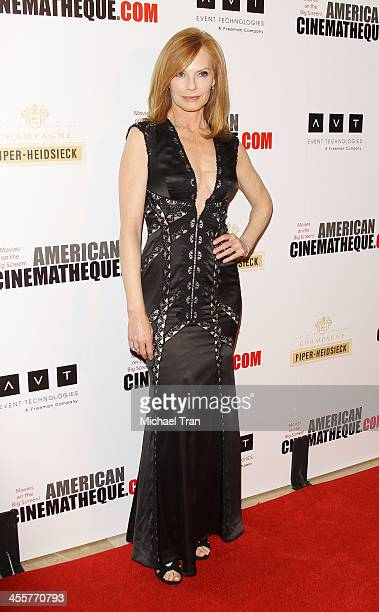 Marg Helgenberger arrives at the 27th American Cinematheque Award honoring Jerry Bruckheimer held at The Beverly Hilton Hotel on December 12, 2013 in...