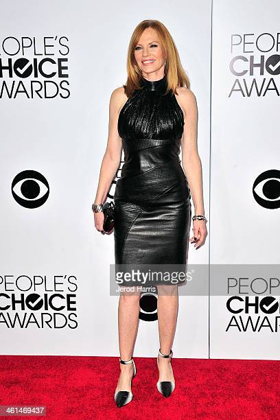 Marg Helgenberger arrives at the 40th Annual People's Choice Awards at Nokia Theatre LA Live on January 8 2014 in Los Angeles California
