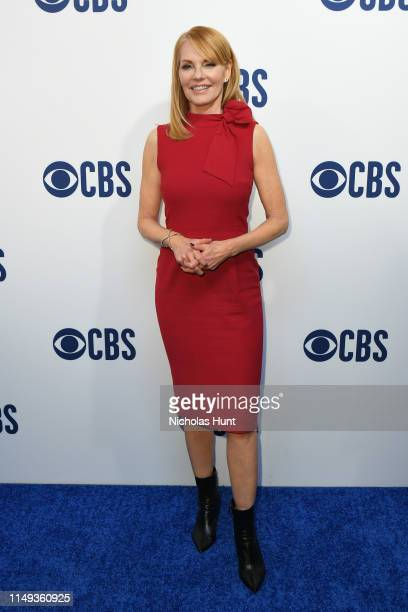 Marg Helgenberger attends the 2019 CBS Upfront at The Plaza on May 15 2019 in New York City